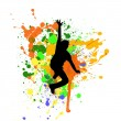 Royalty-Free Stock Photo: Silhouette of man jumping in air