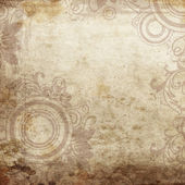 Grunge floral paper background — Stock Photo