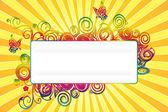 Sommaren banner — Stockfoto