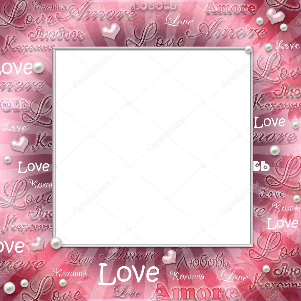 Vintage Love Frame Stock Photo Tamara Kushniruk