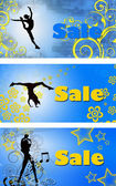 Set of price tag with text SALE — Stock Photo