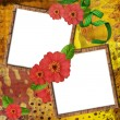 Two wooden frame for a photos or invitation - Stock Photo
