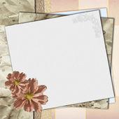 Carta per congratulazioni o invito — Foto Stock
