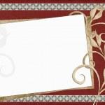 Beautiful card for congratulation or invitation — Stock Photo