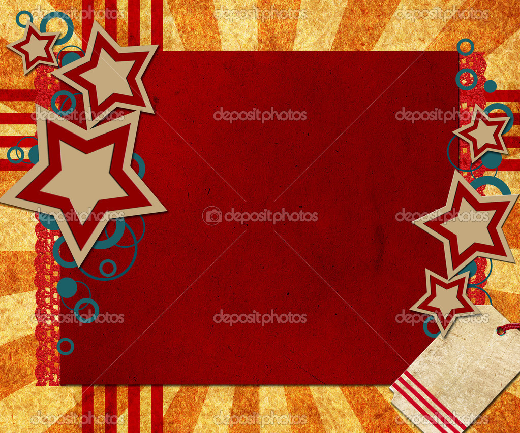Illustration for the 4th of July, Flag Day or Memorial Day featuring stars and stripes  Stock Photo #3514147