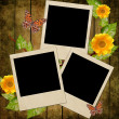 Group of empty polaroids on grunge background — Stock Photo #3527674