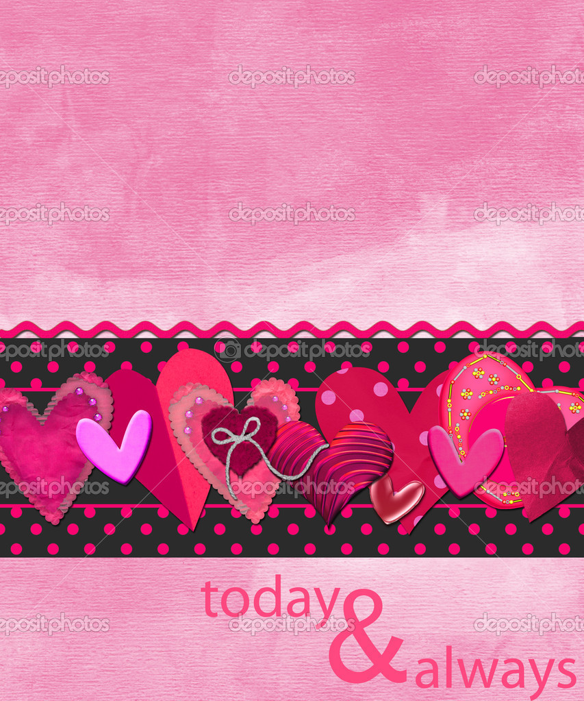 Background or card for Valentines day — Photo #3786796