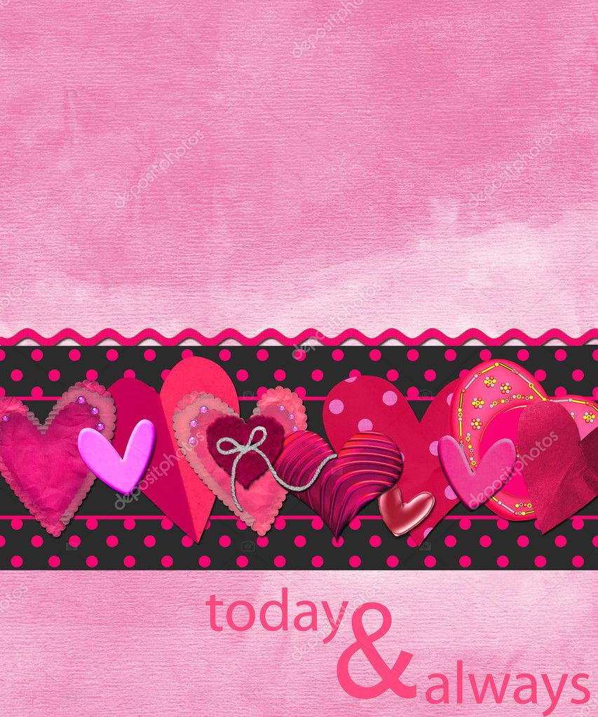 Background or card for Valentines day — Stock Photo #3786796