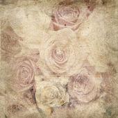 Vintage romantic flowers background — Stock Photo