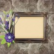 Royalty-Free Stock Photo: Vintage frame on grange roses background in stile scrapbooking