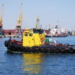 towboat in the port — Stock Photo