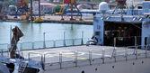 Helipad of a military ship — Stock Photo