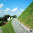 Kosciuszko mound in Krakow — Stock Photo