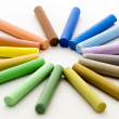 Foto Stock: Pieces of chalk