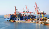 Cargo ship on loading — Stock Photo