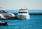 White yachts at the marina — Stock Photo
