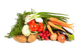 Heap of vegetables on white background — Stock Photo