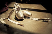 Ballet slippers — Stock Photo