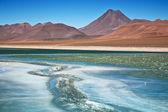 Diamond lagoon in Atacama desert, Chile — Stock Photo
