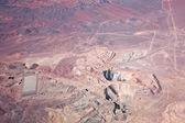 Aerial view of open-pit copper mine in Atacama desert, Chile — Stock Photo
