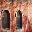 Windows in a brick wall — Stock Photo