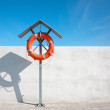 Life buoy for safety — Stock Photo