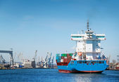 Container ship in Gdynia port - Poland — Stock Photo