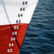 Stock Photo: Numbers of ships depth gauge