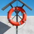 Orange life buoy — Stock Photo