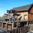 Stock Photo: Wooden Watermill in Nowogrod / Poland