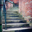 Gloomy, winding stairs — Stock Photo