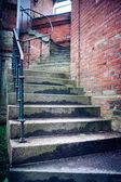Gloomy, winding stairs — Stock Photo