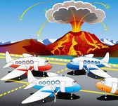 Iceland volcano — Stock Vector