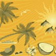 Royalty-Free Stock Vector Image: Tropical island