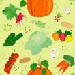 Vegetable seamless pattern — Stock Vector