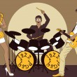 banda de jazz — Vector de stock #3298141