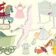 Baby set - Stock Vector