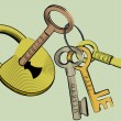 Royalty-Free Stock Vector Image: Keys for life