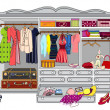Wardrobe - Stock Vector