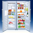 Stock Vector: Refrigerator
