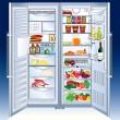 refrigerador — Vector de stock