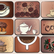Coffee set — Vettoriali Stock