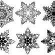 Stok Vektör: Snowflakes collection