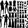 Fashion silhouettes — Stockvectorbeeld