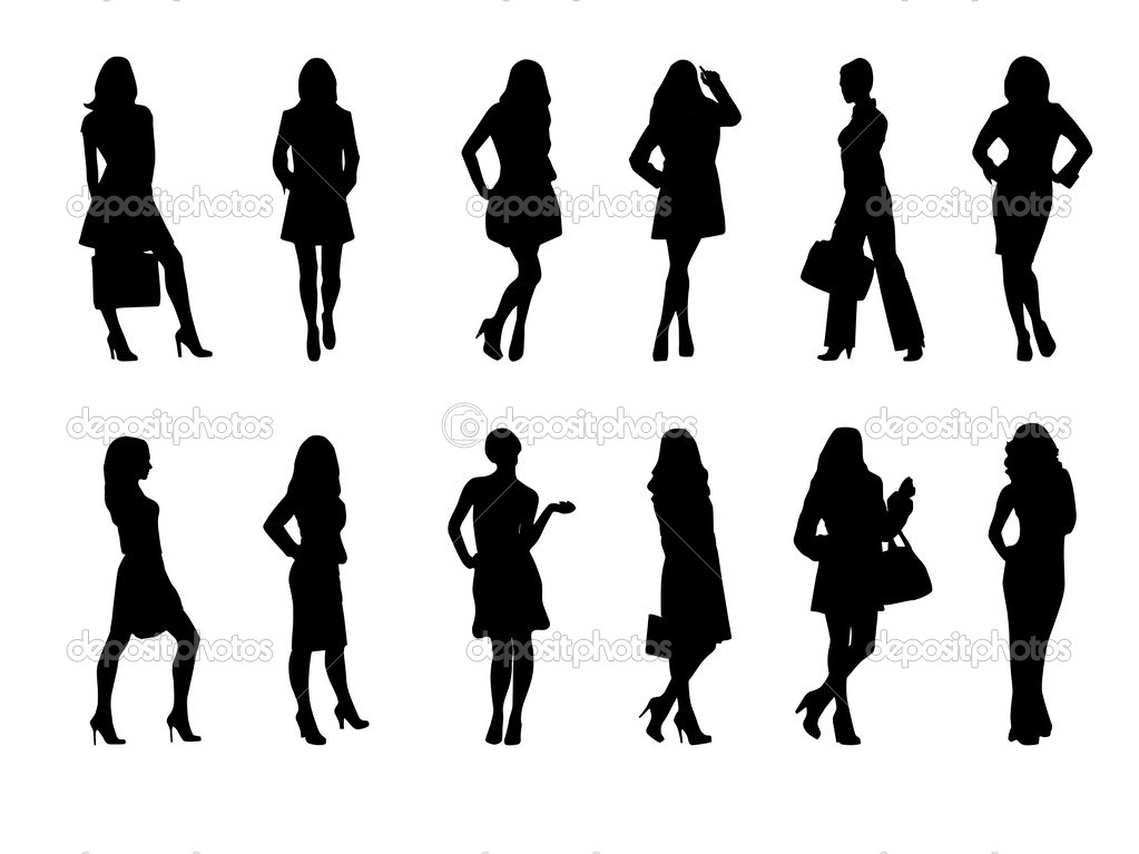 Vector illustration of fashion girls — Vettoriali Stock  #2804458