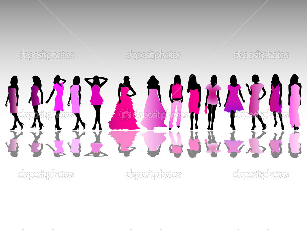 Vector illustration of fashion girls — Imagen vectorial #2804586