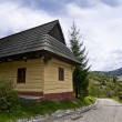 Old  wooden house in slovakian village — Stock Photo