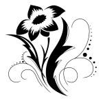 Black a white flower pattern — Stock Vector #2932347