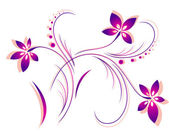 Flower pattern vector — Stock Vector