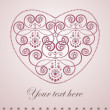 Elegant greeting card with heart - Stock Vector